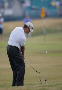 Steve Elkington during the first round of the 135th Open Championship at Royal Liverpool Golf Club in Hoylake, Great Britain on July 20, 2006.Photo by Sam Greenwood/WireImage.com
