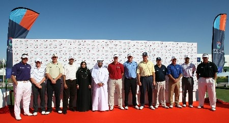 DUBAI, UNITED ARAB EMIRATES - JANUARY 29:  The players for the Dubai Desert Classic Challenge Match, held on the par 3, course at the Emirates Golf Club, on January 29, 2007 in Dubai, United Arab Emirates.  (Photo by David Cannon/Getty Images)