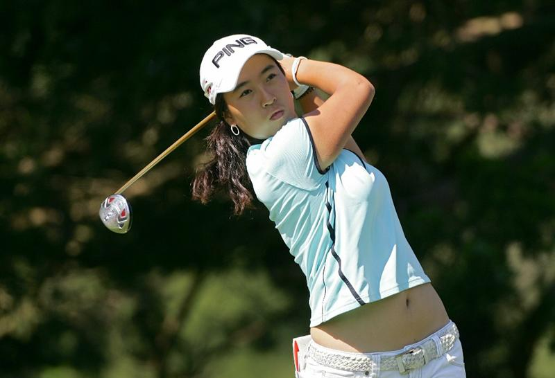 GALLOWAY, NJ - JUNE 18:  Yoo Kyeong Kim of South Korea plays a shot during the first round of the ShopRite LPGA Classic held at Dolce Seaview Resort (Bay Course) on June 18, 2010 in Galloway, New Jersey.  (Photo by Michael Cohen/Getty Images)