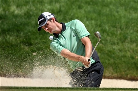 DUBLIN, OH - JUNE 01:  Justin Rose of England hits his second shot on the 4th hole during the final round of The Memorial on June 1, 2008 at the Muirfield Village Golf Club in Dublin, Ohio.  (Photo by Andy Lyons/Getty Images)