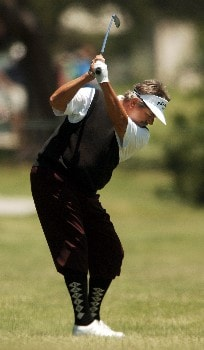 Rodger Davis hits from the 10th fairway during the final round of the 2005 FedEx Kinko's Classic at the Hills Country Club in Austin, Texas May 1, 2005.Photo by Steve Grayson/WireImage.com
