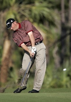 Brett Wetterich in action at the 14th fairway during the final round of The Honda Classic, March 13,2005, held at The Country Club at Mirasol, Palm Beach Gardens, Fl.