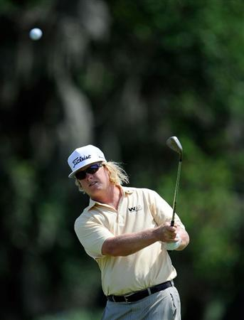 PONTE VEDRA BEACH, FL - MAY 05:  Charley Hoffman plays a shot during a practice round prior to the start of THE PLAYERS on the Stadium course at the TPC Sawgrass on May 5, 2009 in Ponte Vedra Beach, Florida.  (Photo by Sam Greenwood/Getty Images)