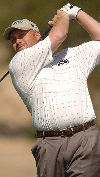 John Rollins in action during the third round of the PGA's Tour 2005 Chrysler Classic of Tucson at the Omni Tucson National Golf Resort & Spa February 26, 2005 in Tuscon, Arizona.