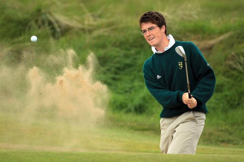 ABERDEEN, SCOTLAND - MAY 12: Dermot McElroy of Ireland during the 2011 Walker Cup Squad practice session at Royal Aberdeen Golf Club on May 12, 2011 in Aberdeen, Scotland.  (Photo by David Cannon/Getty Images)