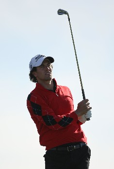 MARANA, AZ - FEBRUARY 21:  Adam Scott of Australia hits his second shot on the second hole during the second round matches of the WGC-Accenture Match Play Championship at The Gallery at Dove Mountain on February 21, 2008 in Marana, Arizona.  (Photo by Travis Lindquist/Getty Images)