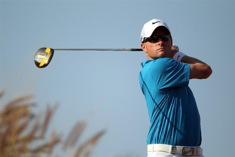 DOHA, QATAR - FEBRUARY 04:  Simon Dyson of England during the second round of the Commercialbank Qatar Masters at the Doha Golf Club on February 4, 2011 in Doha, Qatar.  (Photo by Ross Kinnaird/Getty Images)