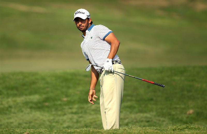 NEW DELHI, INDIA - FEBRUARY 20:  Pablo Larrazabal of Spain competes during the fourth round of the Avantha Masters held at The DLF Golf and Country Club on February 20, 2011 in New Delhi, India.  (Photo by Ian Walton/Getty Images)