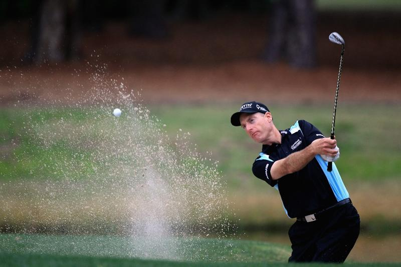 HILTON HEAD ISLAND, SC - APRIL 22:  Jim Furyk hits a shot from the sand on the 7th hole during the second round of The Heritage at Harbour Town Golf Links on April 22, 2011 in Hilton Head Island, South Carolina.  (Photo by Streeter Lecka/Getty Images)   *** BESTPIX ***