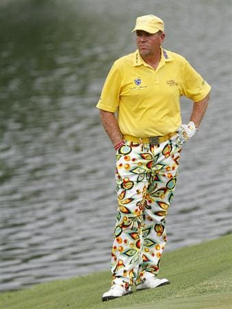 MEMPHIS, TN - JUNE 11: John Daly of the United States waits to putt on the ninth hole during the second round of the St. Jude Classic at TPC Southwind held on June 11, 2010 in Memphis, Tennessee.  (Photo by John Sommers II/Getty Images)