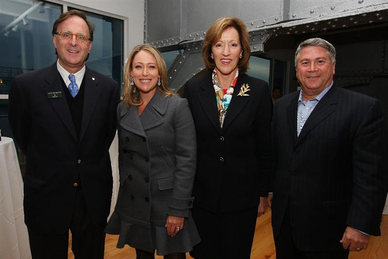 NEW YORK - OCTOBER 14:  (L-R) Peter Nicholson of Rolex, LPGA player Christie Kerr, Acting LPGA Commisioner Marty Evans and Tony Ponturo of Ponturo Management group pose for a photo during the 2009 LPGA Corporate Partnership Summit on October 14, 2009 at Chelsea Piers Golf Club in New York, New York. (Photo by Mike Stobe/Getty Images for the LPGA  (Photo by Mike Stobe/Getty Images for the LPGA)