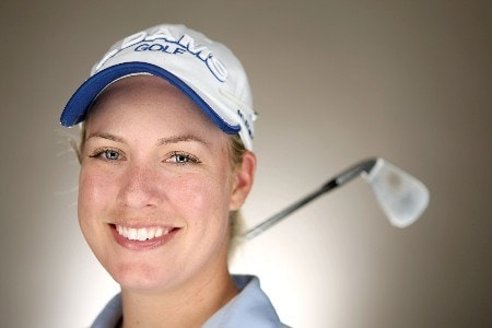 SUPERSTITION MOUNTAIN, AZ - MARCH 25:  Brittany Lincicome poses for a portrait during the LPGA Safeway International at the Superstition Mountain Golf and Country Club March 25, 2008 in Superstition Mountain, Arizona.  (Photo by Jonathan Ferrey/Getty Images)