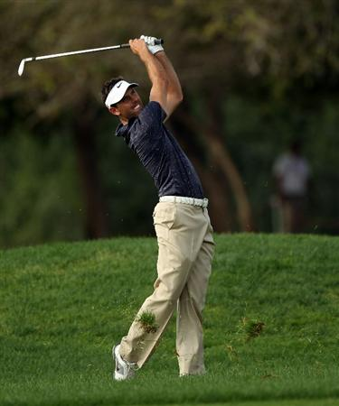 ABU DHABI, UNITED ARAB EMIRATES - JANUARY 20:  Charl Schwartzel of South Africa during the first round of the Abu Dhabi HSBC Golf Championship at the Abu Dhabi Golf Club on January 20, 2011 in Abu Dhabi, United Arab Emirates.  (Photo by Ross Kinnaird/Getty Images)