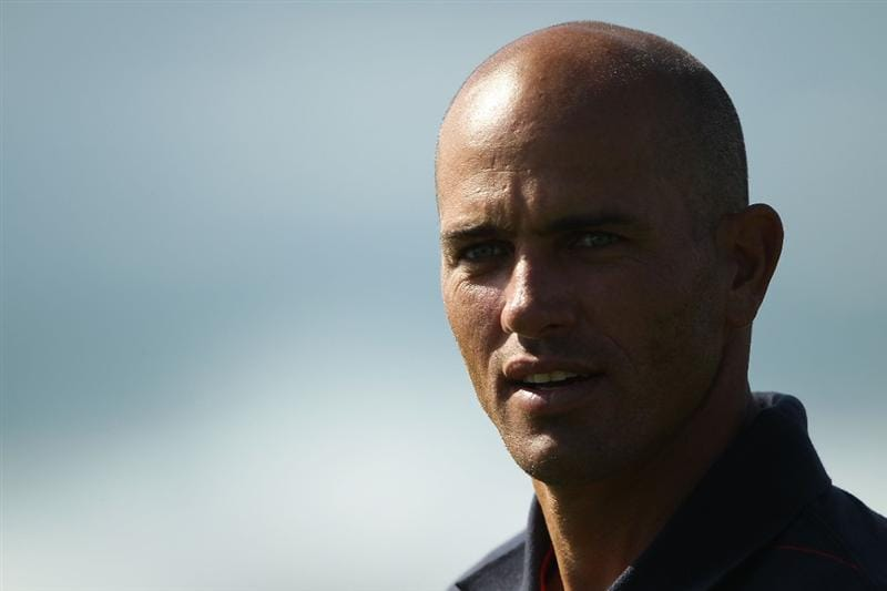 PEBBLE BEACH, CA - FEBRUARY 13:  Professional Surfer Kelly Slater on the 9th hole during round three of the AT&T Pebble Beach National Pro-Am at Pebble Beach Golf Links on February 13, 2010 in Pebble Beach, California.  (Photo by Ezra Shaw/Getty Images)