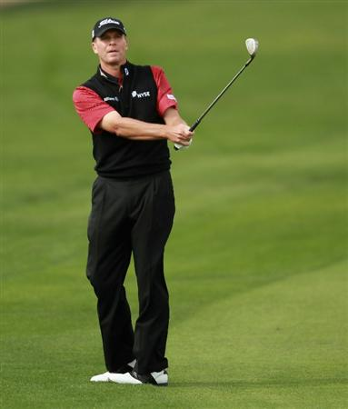 DOHA, QATAR - FEBRUARY 03:  Steve Stricker of the USA in action during the first round of the Commercialbank Qatar Masters held at Doha Golf Club on February 3, 2011 in Doha, Qatar.  (Photo by Andrew Redington/Getty Images)