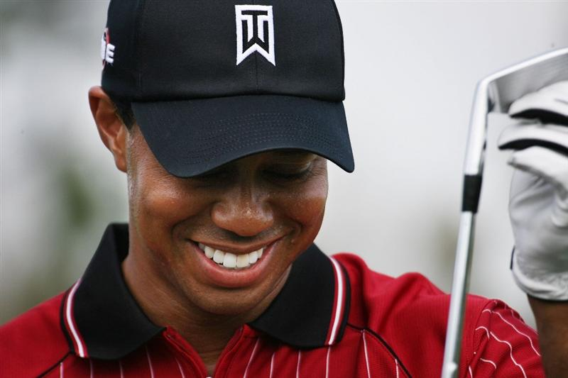 ORLANDO, FL - MARCH 16:  Tiger Woods practices for the Tavistock Cup on March 16, 2009 at Lake Nona Country Club in Orlando, Florida.  (Photo by Marc Serota/Getty Images)