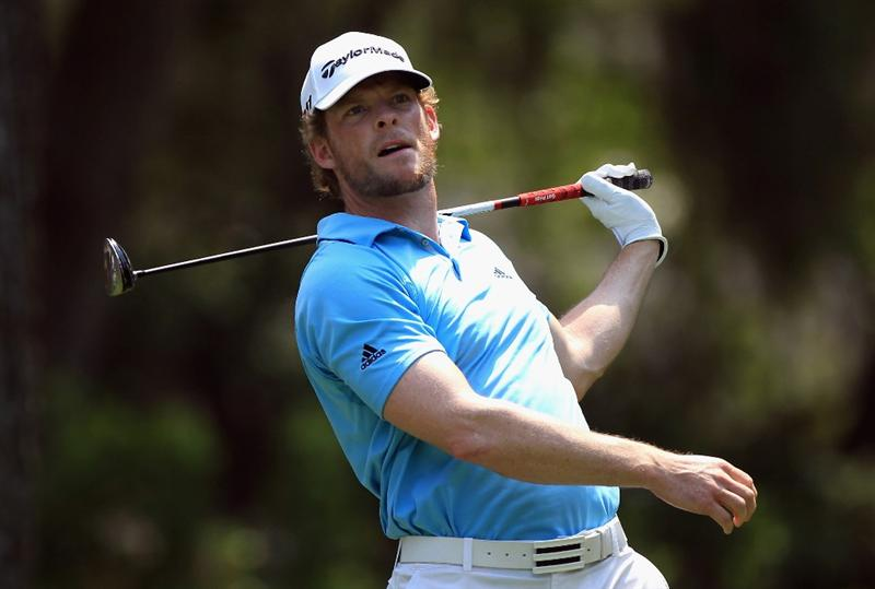 HILTON HEAD ISLAND, SC - APRIL 21:  James Driscoll lets go of his club on the 8th hole during the first round of The Heritage at Harbour Town Golf Links on April 21, 2011 in Hilton Head Island, South Carolina.  (Photo by Streeter Lecka/Getty Images)