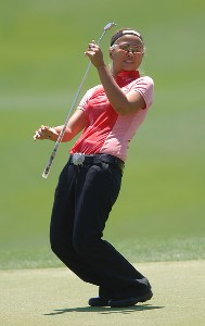 Jennifer Rosales in action during the second round of the LPGA's 2006 Michelob ULTRA Open at Kingsmill, at the Kingsmill Resort and Spa River Course in Williamsburg, Virginia on May 12, 2006.Photo by Steve Grayson/WireImage.com