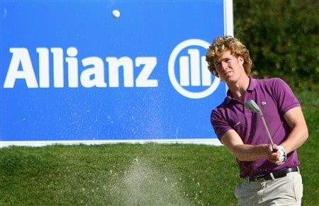 PLENEUF-VAL-ANDRE, FRANCE - APRIL 26:  Wil Besseling of the Nerthlands plays out of the 15th greenside bunker during the final round of the AGF-Allianz Open Cotes d'Armour Bretagne at Golf Blue-Green Pleneuf-Val Andre on April 26, 2008 in Pleneuf-Val Andre, France.  (Photo by Warren Little/Getty Images)