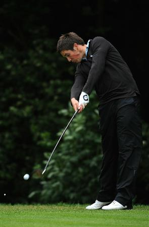 LUMBRES, FRANCE - JUNE 20:  Matt Haines of England in action during Round Four of the Saint-Omer Open at The Aa St Omer Golf Club on June 20, 2010 in Lumbres, France.  (Photo by Christopher Lee/Getty Images)