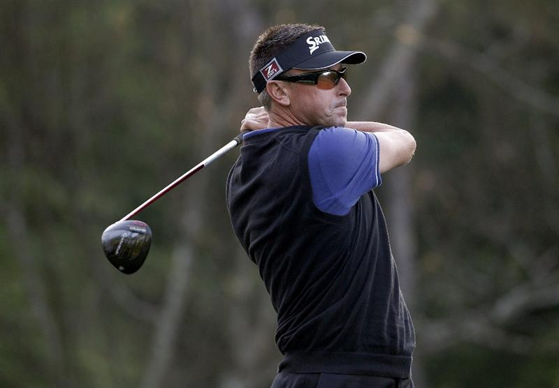 HUMBLE, TX - MARCH 31: Robert Allenby of Australia hits a drive during the first round of the Shell Houston Open at Redstone Golf Club on March 31, 2011 in Humble, Texas.  (Photo by Michael Cohen/Getty Images)