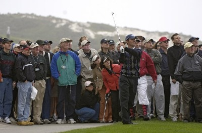 Mike Weir during the third round of the  AT&T Pebble Beach National Pro-Am on Spyglass Hill Golf Course in Pebble Beach, California on February 11, 2006.