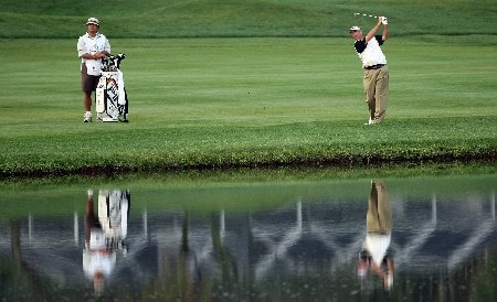 ORLANDO, FL - MARCH 14:  Patrick Sheehan of the USA hits his second shot at the 11th hole during the second round of the 2008 Arnold Palmer Invitational presented by Mastercard at the Bay Hill Golf Club and Lodge, on March 14, 2008 in Orlando, Florida.  (Photo by David Cannon/Getty Images)