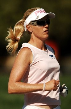 Carin Koch in action during the second round of the LPGA's 2005 Kraft Nabisco Championship, at Mission Hills Country Club in Rancho Mirage, California March 25, 2005.