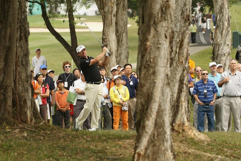 HONG KONG - NOVEMBER 20:  Graeme McDowell of Northern Ireland in action during day three of the UBS Hong Kong Open at The Hong Kong Golf Club on November 20, 2010 in Hong Kong, Hong Kong.  (Photo by Ian Walton/Getty Images)