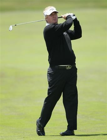 PEBBLE BEACH, CA - JUNE 19:  Ross McGowan of England hits a shot on the second hole during the third round of the 110th U.S. Open at Pebble Beach Golf Links on June 19, 2010 in Pebble Beach, California.  (Photo by Andrew Redington/Getty Images)