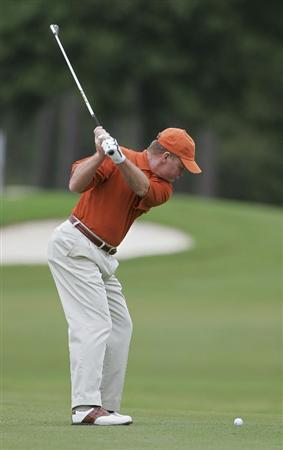 CARY, NC - SEPTEMBER 26:  Tom Kite hits a shot from the fairway during the second round of the SAS Championship at Prestonwood Country Club held on September 26, 2009 in Cary,  North Carolina.  (Photo by Michael Cohen/Getty Images)