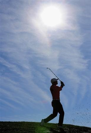 MARANA, AZ - FEBRUARY 28:  Paul Casey of England plays his approach shot on the 14th hole during the semi final round of Accenture Match Play Championships at Ritz - Carlton Golf Club at Dove Mountain on February 28, 2009 in Marana, Arizona.  (Photo by Stuart Franklin/Getty Images)