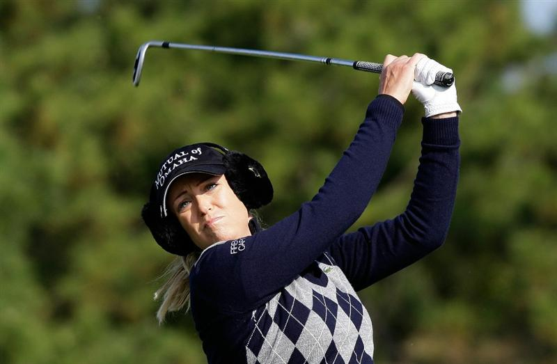 INCHEON, SOUTH KOREA - OCTOBER 31:  Cristie Kerr of United States hits a tee shot on the 3rd hole during the 2010 LPGA Hana Bank Championship at Sky 72 Golf Club on October 31, 2010 in Incheon, South Korea.  (Photo by Chung Sung-Jun/Getty Images)