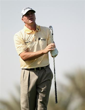 DOHA, QATAR - FEBRUARY 02:  Steve Stricker of the USA during the pro-am event prior to the Commercialbank Qatar Masters on February 2, 2011 in Doha, Qatar.  (Photo by Ross Kinnaird/Getty Images)