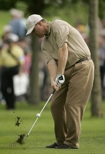 Chad Campbell during a practice round at the 2006 Ryder Cup held at the K Club, Straffan, County Kildare, Ireland on Thursday, September 21, 2006. Photo by Sam Greenwood/WireImage.com