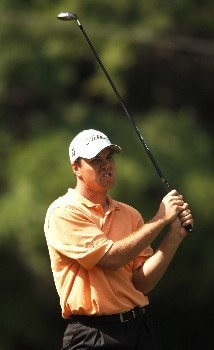 Arron Oberholser hits from the fourth tee during the second round of the 2005 Bank of America Colonial at Colonial Country Club in Forth Worth, Texas May 20, 2005.Photo by Steve Grayson/WireImage.com