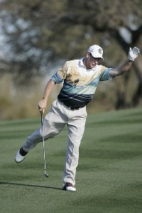 Woody Austin during the fourth and final round round of the FBR Open held at TPC Scottsdale in Scottsdale, Arizona, on February 4, 2007.  Photo by: Stan Badz/PGA TOURPhoto by: Stan Badz/PGA TOUR
