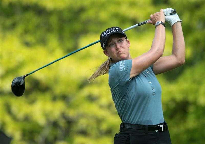 SINGAPORE - FEBRUARY 24:  Cristie Kerr of the USA hits her tee shot on the sixth hole during the first round of the HSBC Women's Champions 2011 at the Tanah Merah Country Club on February 24, 2011 in Singapore, Singapore.  (Photo by Scott Halleran/Getty Images)