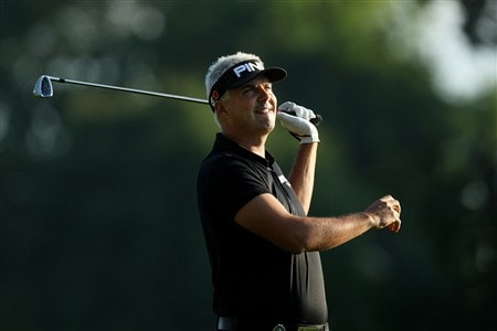 BLOOMFIELD HILLS, MI - AUGUST 07:  Daniel Chopra of Sweden plays his second shot on the 10th hole during round one of the 90th PGA Championship at Oakland Hills Country Club on August 7, 2008 in Bloomfield Township, Michigan.  (Photo by David Cannon/Getty Images)