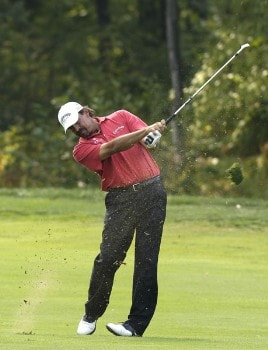 Carlos Franco in action during the final round of the 84 Lumber Classic on Sunday, September 18, 2005  held at the Mystic Rock Golf Course/Nemacolin Woodlands Resort  in Farmington, PennsylvaniaPhoto by Marc Feldman/WireImage.com