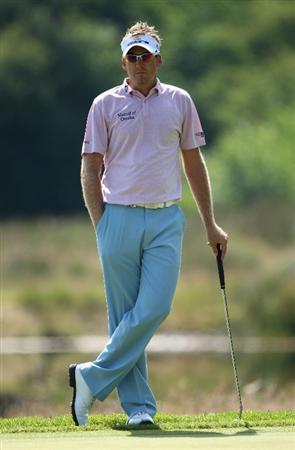 LUSS, SCOTLAND - JULY 11:  Ian Poulter of England waits to putt on the 13th green during the Third Round of The Barclays Scottish Open at Loch Lomond Golf Club on July 11, 2009 in Luss, Scotland.  (Photo by Andrew Redington/Getty Images)