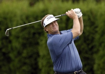 Peter Jacobsen during the first round of the JELD-WEN Tradition at The Reserve Vineyards & Golf Club in Aloha, Oregon on Thursday, August 24, 2006.Photo by Steve Levin/WireImage.com