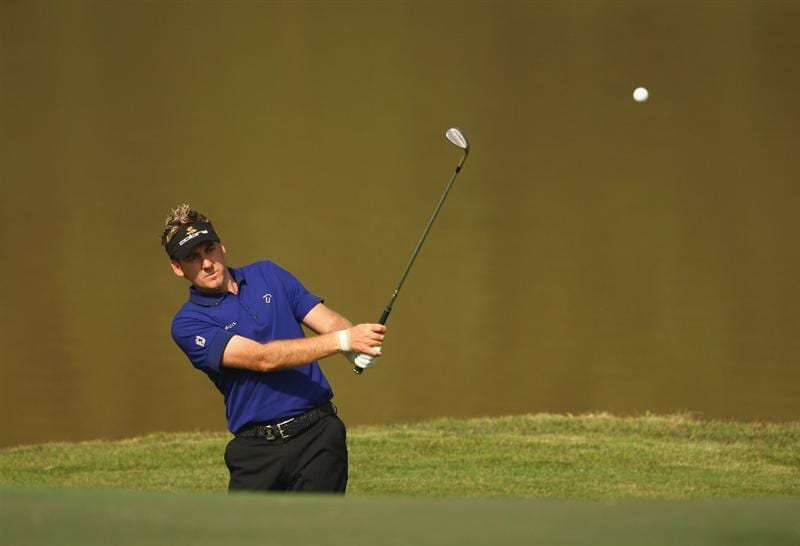 SHENZHEN, CHINA - NOVEMBER 26:  Ian Poulter of England in action during the Pro - Am of the Omega Mission Hills World Cup at the Mission Hills Resort on November 26, 2008 in Shenzhen, China.  (Photo by Ian Walton/Getty Images)
