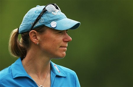 CLIFTON, NJ - MAY 15:  Annika Sorenstam of Sweden waits near the 15th green during the first round of the Sybase Classic presented by ShopRite on May 15, 2008 at the Upper Montclair Country Club in Clifton, New Jersey.  (Photo by Travis Lindquist/Getty Images)