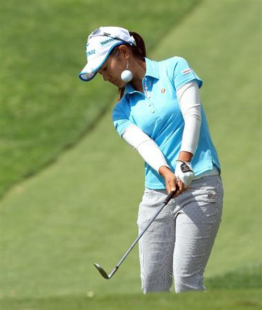 RANCHO MIRAGE, CA - MARCH 31: Ai Miyazato of Japan during the pro-am as a preview for the 2010 Kraft Nabisco Championship, on Dinah Shore Course at The Mission Hills Country Club, on March 31, 2010 in Rancho Mirage, California.  (Photo by David Cannon/Getty Images)