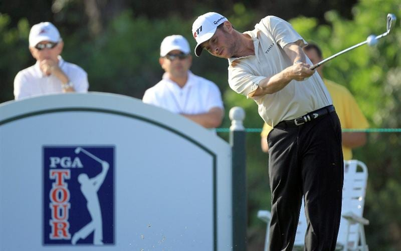 ORLANDO, FL - MARCH 25:  Spencer Levin hits his tee shot at the 7th hole during the second round of the 2011 Arnold Palmer Invitational presented by Mastercard at the Bay Hill Lodge and Country Club on March 25, 2011 in Orlando, Florida.  (Photo by David Cannon/Getty Images)