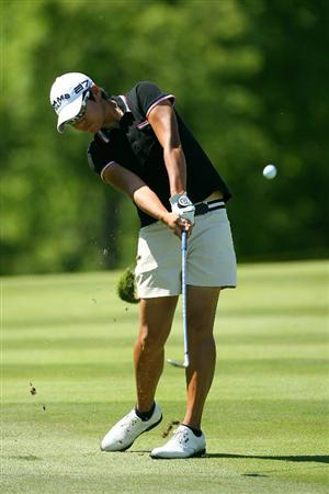 GLADSTONE, NJ - MAY 20 : Yani Tseng hits her second shot on the 15th hole during the first round of the Sybase Match Play Championship at Hamilton Farm Golf Club on May 20, 2010 in Gladstone, New Jersey. (Photo by Hunter Martin/Getty Images)