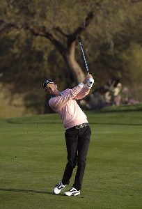 Jesper Parnevik in action during the second round of the FBR Open at the TPC Players Course on  Friday, January 3, 2006 in Scottsdale, Arizona.Photo by Marc Feldman/WireImage.com
