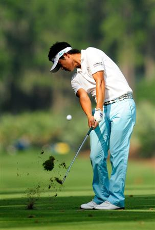 PONTE VEDRA BEACH, FL - MAY 06:  Ryuji Imada of Japan hits a shot on the sixth hole during the first round of THE PLAYERS Championship held at THE PLAYERS Stadium course at TPC Sawgrass on May 6, 2010 in Ponte Vedra Beach, Florida.  (Photo by Sam Greenwood/Getty Images)