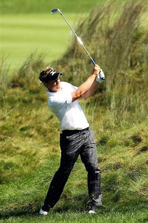 NORTON, MA - SEPTEMBER 04:  Luke Donald of England hits the ball on the sixth hole during the second round of the Deutsche Bank Championship at TPC Boston on September 4, 2010 in Norton, Massachusetts.  (Photo by Mike Ehrmann/Getty Images)